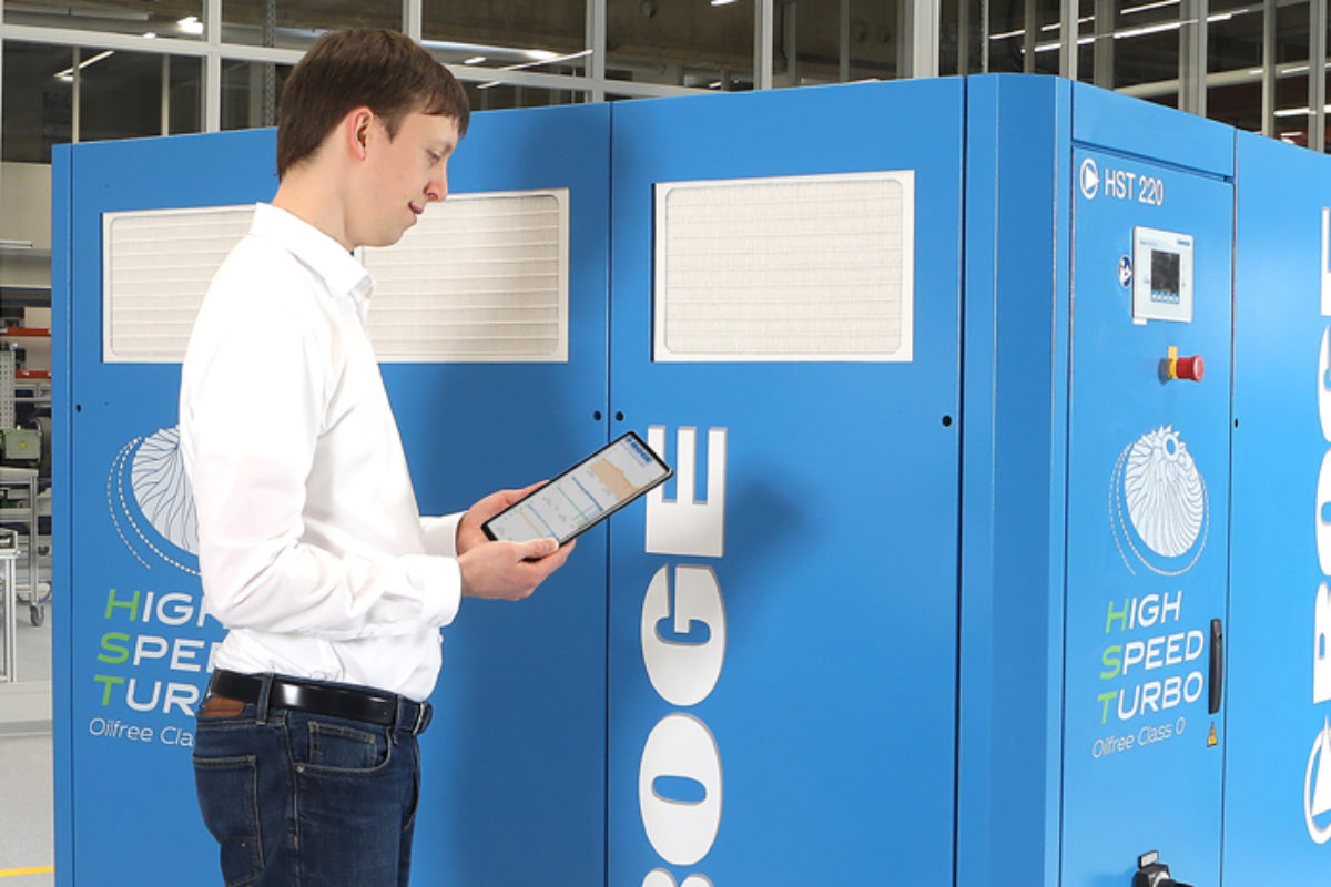 Boge réalise une installation d'air comprimé avec récupération de chaleur