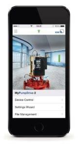 La nouvelle appli KSB FlowManager permet aux utilisateurs de communiquer avec leurs pompes, de les commander et de les configurer.