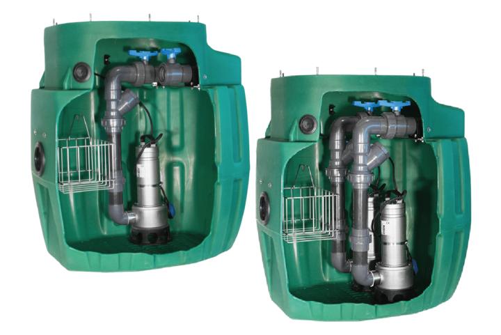 Une station de relevage évolutive qui passe de mono à double pompes en fonction de l'usage
